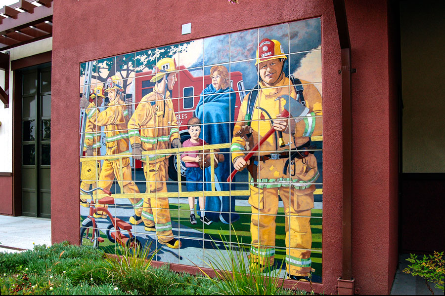 Rescue Was Commissioned By Los Angeles Cultural Affairs In 2005, For Newly  Constructed Fire Station #83 In Encino, CA. The Exterior 10u2032 X 10u0027 Ceramic  Tile ... Part 54